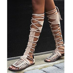 Free People Sun Seeker Tall Gladiator Sandal